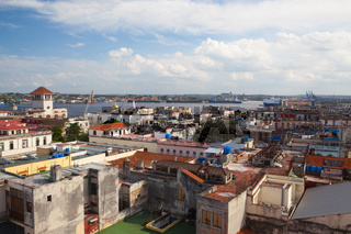 Top view of the roofs and buildings,Havana,Cuba