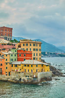Houses by the sea in Boccadasse