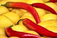Chili pepper and lemons