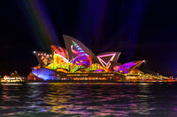 Sydney Opera House Vivid Sydney celebrations