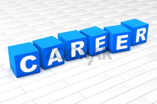 3D illustration of the word Career