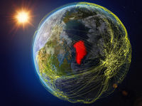 Greenland on Earth with network