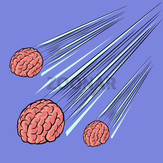 brain meteor. the intelligence of the human mind