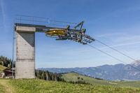 Endstation eines Skiliftes, Gummenalp, Nidwalden, Schweiz, Europa