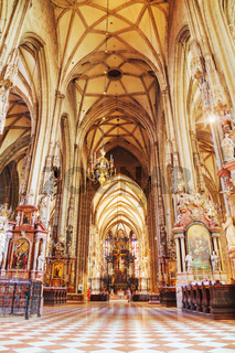 VIENNA - AUGUST 30: St. Stephen's Cathedral (Stephansdom) on August 30