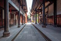 Wenshu buddhist monastery alley in Chengdu, China