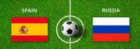 Football match Spain vs. Russia