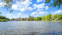 boeblingen lake with view to the church