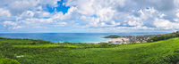 Panorama of Cornish coast in St Ives