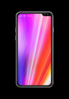 All-screen colorful smartphone mockup isolated on black. 3D render