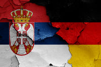 flags of Serbia and Germany