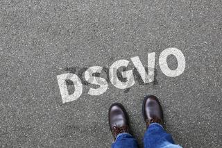 DSGVO Datenschutz Grundverordnung Verordnung Regel EU Europäische Union Internet Business Konzept