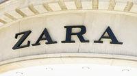 Zara logo sign on facade