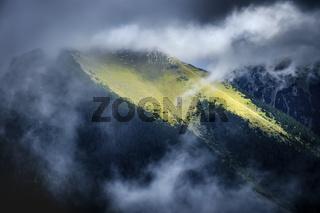 Mountains of Garmisch-Partenkirchen in autumn