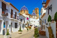 Altea an der Costa Blanca, Spanien - the old white town Altea on Costa Blanca, Spain