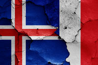 flags of Iceland and France