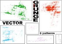 Vector Grunge Patterns Set