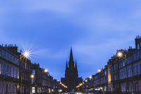 St Mary's Cathedral at twilight in Edinburgh