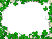 Saint Patricks day rectangular frame