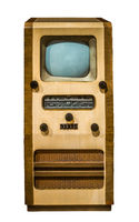 Isolated Vintage TV