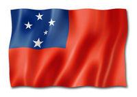 Samoa flag isolated on white