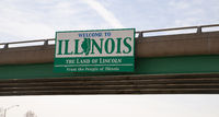 The Highway Overpass Sign Says Welcom to Illinois The Land of Lincoln