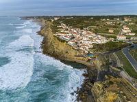 Coastal town Azenhas do Mar in Portugal