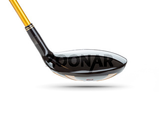 Back of Fairway Wood Golf Club on White Background