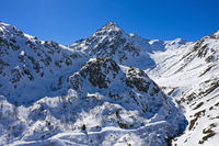 Gipfel Pointe des Lacerandes beim Grossen St. Bernhard Pass, Entremont, Wallis, Schweiz