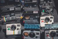 Old retro camera / vintage polaroid camera collection