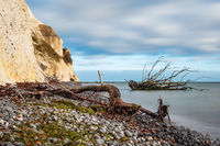 Ostseeküste auf der Insel Moen in Dänemark