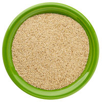 ivory teff grain in isolated bowl