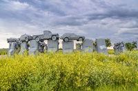 Carhenge, a modern replica of Stonehenge