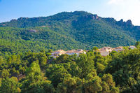 Landscape view on the South France hills
