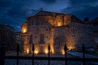 Sveta Sofija old church in Ohrid at night