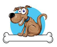 Dog mascot logo with Bone.illustration