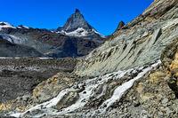 Das Matterhorn vom Gornergletscher gesehen, Zermatt, Wallis, Schweiz