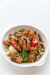 Soft crab pepper sauce