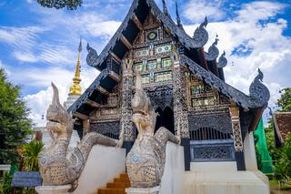 Wat Chedi Luang temple buildings, Chiang Mai, Thailand