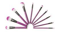 Set of makeup brushes.
