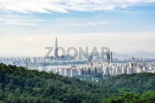 view of seoul from achasan mountain