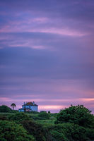 Secluded Cornish house at dusk