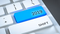 computer keyboard New Year 2019