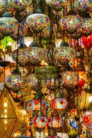 Hanging mosaic lamp