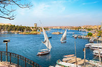 Aswan and boats