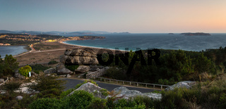 Panorama of the Coast at Sunset