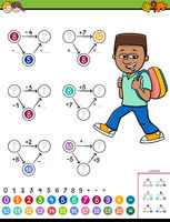 maths calculation educational worksheet for kids