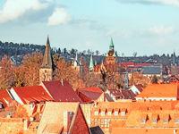 Luftaufnahme von Quedlinburg mit Kirche und Lindenbeinschen Turm