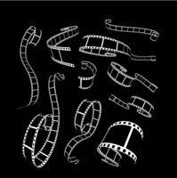 Film strip vector illustration on black Film strip vector illustration on black