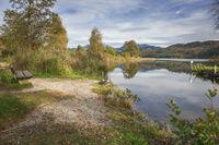 Blick über den Weissensee in Bayern